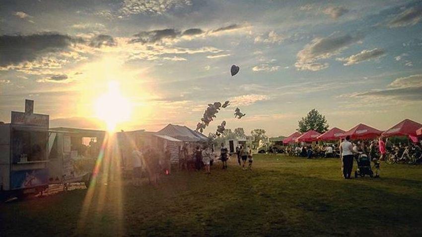 Wschowa Burningsun Festiwal Zachod Lato Balony Sunset Summer Landscape Balloons