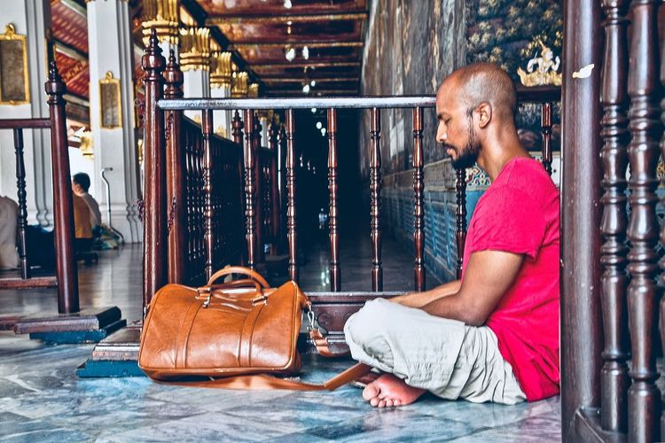 Praying One Person Real People Adult Occupation Males  Redefining Menswear Men Side View Casual Clothing The Portraitist - 2019 EyeEm Awards