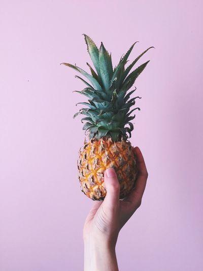 Pineapple Little Little Fruit Fruit Summer Summertime Pink Color Hand Handmodel Hansome Minimalism Minimal Colorful EyeEmNewHere EyeEmNewHere Break The Mold Food Stories The Still Life Photographer - 2018 EyeEm Awards