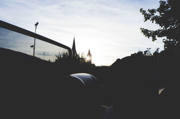 through the tower Cabrio Car Cities At Night Driving Evening Sky Found On The Roll Outdoors Scenics Sky Sunbeam Sunset The Essence Of Summer My Commute The Street Photographer - 2016 EyeEm Awards Towers Mein Automoment