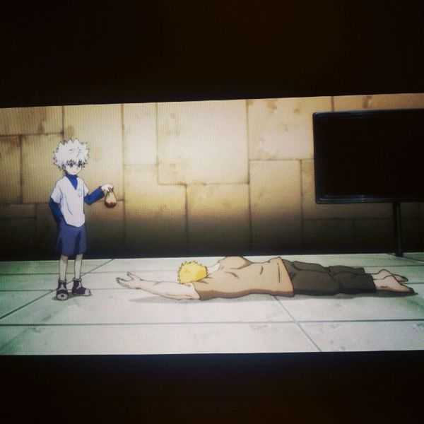 Badass Killua . Haven't watched this anime since I was in grade school. Hunterxhunter Anime