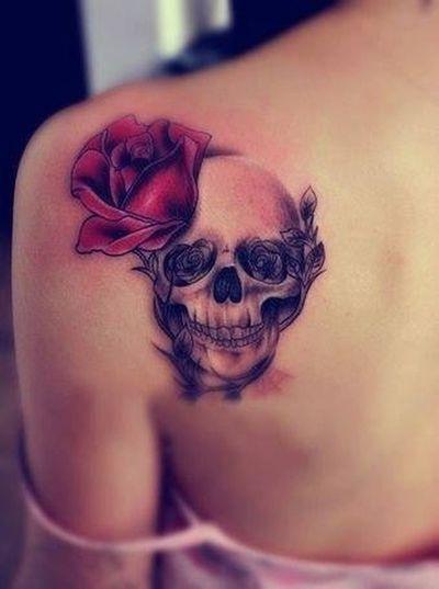 Tattoo Crane Flower Beautiful