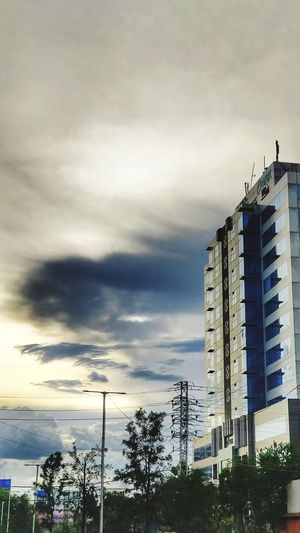 Hyderabad Tcs City Sunset Sky Architecture Building Exterior Built Structure Cloud - Sky Office Building Tall - High Storm Cloud First Eyeem Photo