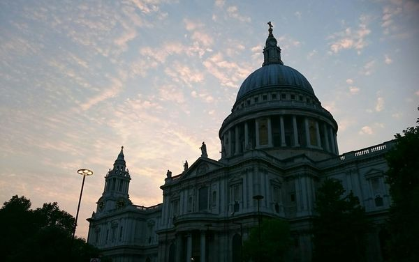 St Paul's at sunset Praying Dome Low Angle View Famous Place Outdoors International Landmark Capital Cities  Travel Destinations Built Structure London Tourism Tall - High Architecture Building Exterior Cathedral Sunset Cloud - Sky Pink Sky Clouds Shadow Light And Shadow Historical Place Historical Building Historical Sights Showcase June EyeEm LOST IN London