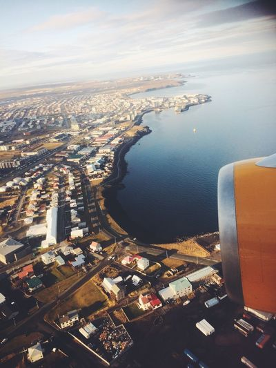 Iceland Island AirPlane ✈ Airplaneview Cityview Airplane Window