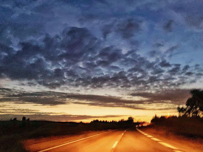 Desert road Sky