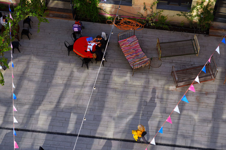 Leisure Time Bird Eyes View Colour Colourful DSLR Photography Georgia High Angle View Hostel Leisure Activity Leisure Time Multi Colored Outdoor Photography Summer Mood Tbilisi Yard The Secret Spaces Go Higher
