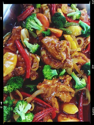 Cooking Lunch! for Hajjah Mahani Muslim Food Sweet & Sour Chicken