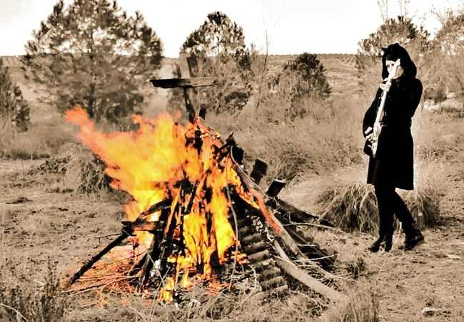 Heat - Temperature Burning Flame Real People One Person Outdoors Men Holding Tree Forest Fire Full Length Smoke - Physical Structure Day Adults Only Nature Sky Adult People Olivialand EyeEm Gallery Olivia De Happyland Nature_collection Rock N Roll Women Around The World