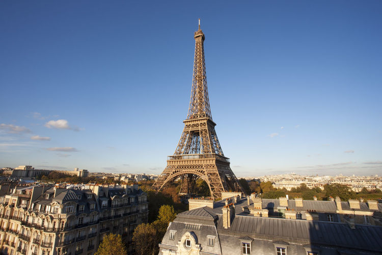 Elevated view of the Eiffel Tower, Paris, France. Eiffel Tower♥ Eiffel Tower France Paris Travel Architecture Building Exterior Built Structure City Cityscape Day Destinations Elevated View No People Outdoors Travel Destinations Travel Destinations Outdoors Relaxation Urban Skyline
