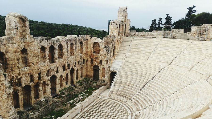 Theater of herodes atticus against sky