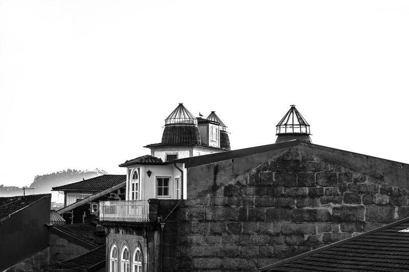 Beautiful Blackandwhite EyeEmNewHere Grainy Light Romantic Texture Streetphotography Outdoors City Architecture Terrace Skylight Bird in Guimarães