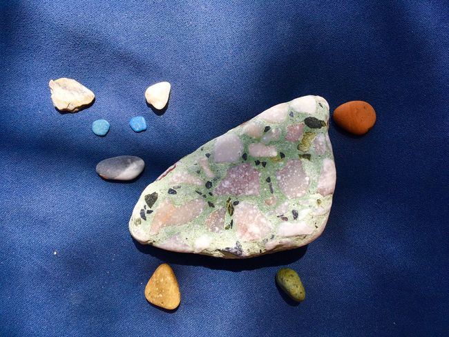 Cow Summer Game Summer Stone Beach Creativity Blue Stone Still Life Indoors  High Angle View No People Close-up Textile