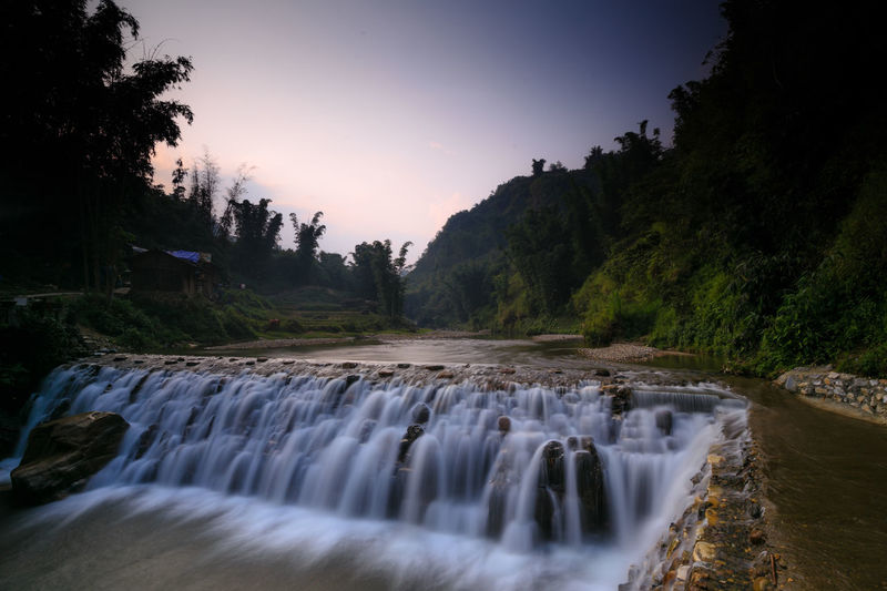 waterfall in Vietnam Beauty In Nature Danger Environment Fresh Air... Long Exposure Nature No People Outdoors Rock Scenics Soft Solitary Stream - Flowing Water Travel Destinations Tree Water Waterfall Wild