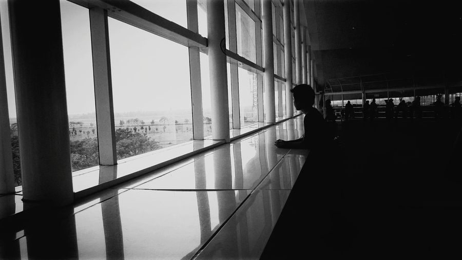 Hanging Out Airport Waiting Black And White Photography People Windows Outside First Eyeem Photo