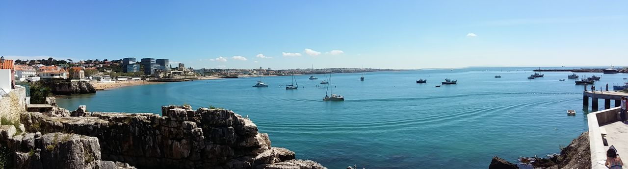 I really like this shot, this is in Cascais, Portugal, I really like the blue in this panoramic! NoEdits  NoEditNoFilter Panorama Panoramic Photography Panoramic EyeEm Nature Lover Cascais Portugal