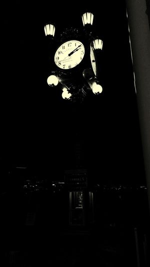Only Time Will Tell Clock Time Old-fashioned Instrument Of Time Clock Tower Night