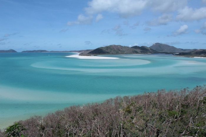 This photo I took of the Whitsunday Islands shows the gorgeous patterns that change daily due to the disrupted sand underneath the sea. Whitsunday Islands Whitsundays Australia Beach
