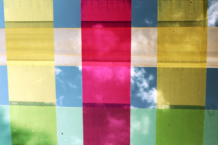 Beautiful Multicolored fabric for show. Red Show Backgrounds Blue Close-up Colorful Day Fabric Full Frame Multi Colored Multicolour No People Outdoors Powder Paint Present Sky Variation Vibrant Color Yellow Yellow Color