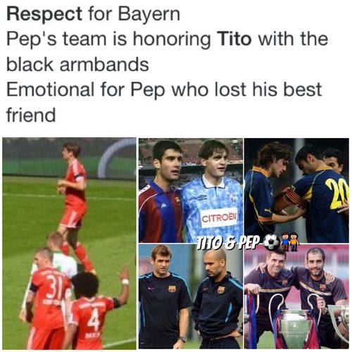 Tito Vilanova and Pep Guardiola created the greatest football team in the world.RIP Coach Hello World