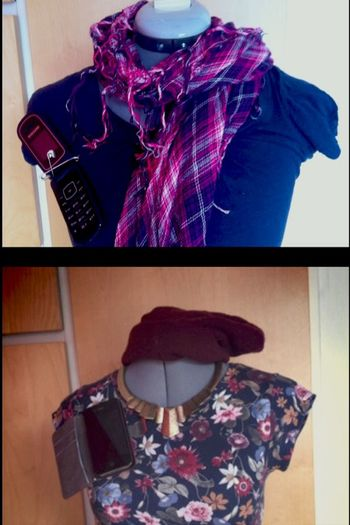 The Fashionist - 2015 EyeEm Awards a few years ago it was trendy to wear a fuzzy scarf and a phone like on the upper pic but today you get bullied if you do that .