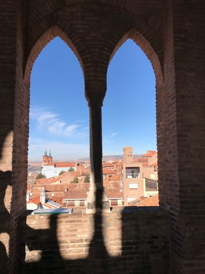 Torre del Salvador Mudéjar Architecture Arch Built Structure Building Exterior Shadow Day Sunlight Clear Sky No People Sky City