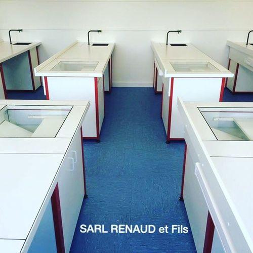 Paillasse Sarlrenaudetfils Laboratoire Agencementdelaboratoire Agencement