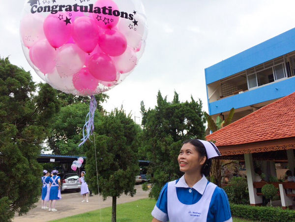 Congrattlations 😊😊 Smiling Balloon Cheerful Only Women Celebration Adult One Woman Only People Women Adults Only Blue Helium Balloon Headshot Day Portrait One Person Tree Real People Outdoors Sky