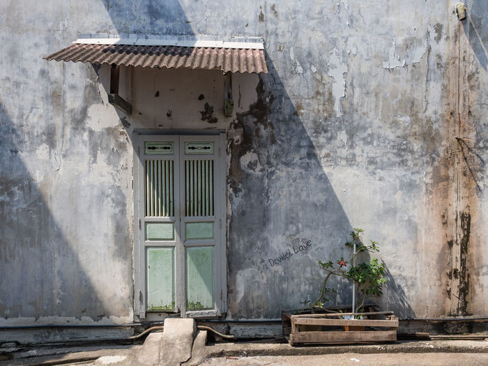 Architecture Built Structure Building Exterior Building Day No People House Window Sunlight Nature Outdoors Wall - Building Feature Plant Door Wood - Material Entrance Old Residential District Abandoned Staircase Shadow Weathered Plant Architectural Detail
