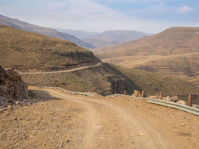 Africa Mountain Mountain Range Mountain Pass Lesotho Road Curvy Offroad Pass Danger Dangerous