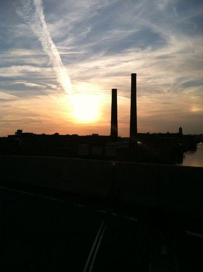 sunset over the river Sunset Over The River
