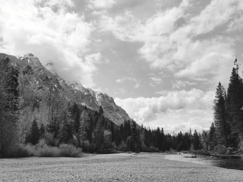 Edge Of The World Glacier National Park Montana Black And White Black And White Collection  Black And White Photography