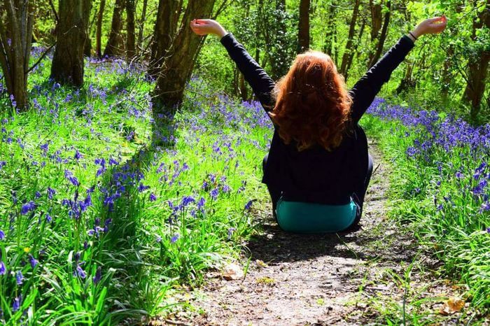 Bluebells Girl Power Woodland Walk Woods Redhead