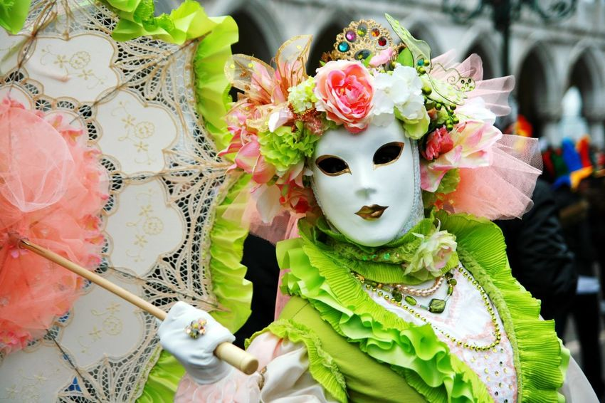 Colors Of Carnival Venice Venice Italy Venice Carnival Mask Umbrella Classic Classy Carnival Colors Color Portrait Dantel Hide Beauty