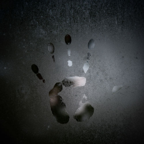 Close up of handprint