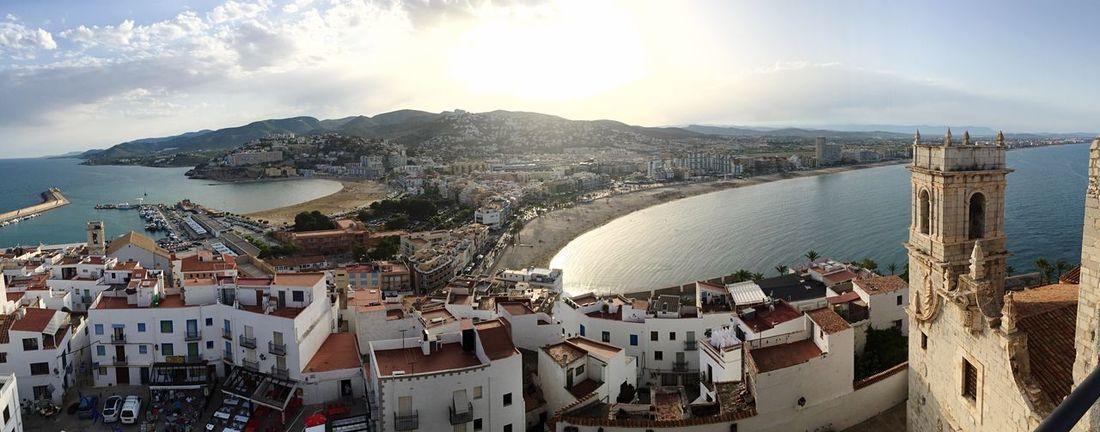 Vistas de Peñiscola desde el castillo Castle Panoramic Beach Peñíscola