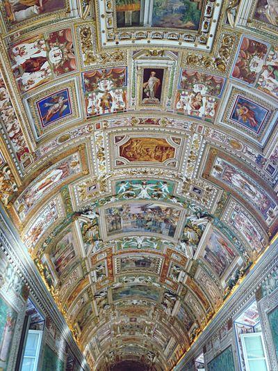 Ceiling of the Vatican Michaelangelo Sistine Chapel  Rome Italy Europe Church Art Traveling Handmade