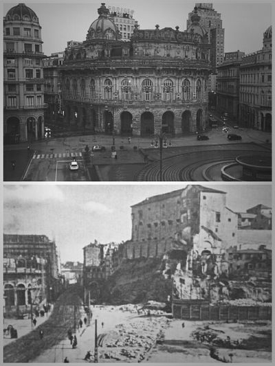 The upper pic is now. The pic below is taken at the end of '800. You can see a buildind under construction on the extreme left. When I first see the older pic I was astonished! Before&After Blackandwhite Bianco E Nero Old And New