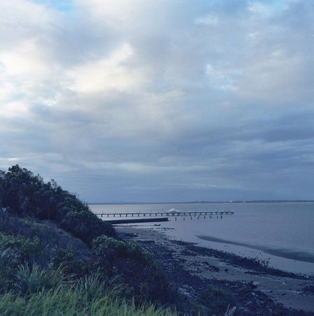 Bronica Filmphotography Australia Sandgate Horizon Over Water Analoguephotography Film Photography Film Analogue Photography 6x6 C41 Shorncliffe Shorncliffepier