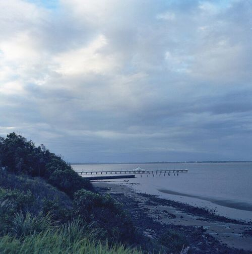 Bronica Filmphotography Australia Sandgate Horizon Over Water Analoguephotography Film Photography Film Analogue Photography 6x6 C41 Shorncliffe Shorncliffepier