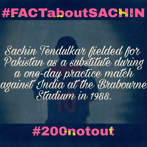 SachinTendulkar Fact SachinRameshTendulkar Sachin200 Text