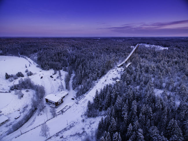 Aerial Shot Aerial View Cold Temperature EyeEm Best Shots Finland Forest Frozen January2016 Majestic Majestic Nature Ski Jump Sky Snow Snow Covered Winter Dji DJI Phantom 3 Advanced