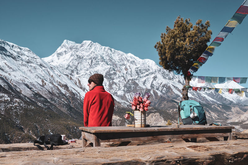 Annapurna Conservation Area Trekking Travel Destinations Travel Nepal Buddhism Tibet Ancient Trail Tourism Mountain Clear Sky Men Spirituality Religion Sky My Best Travel Photo A New Beginning Holiday Moments Redefining Menswear My Best Photo Streetwise Photography Analogue Sound