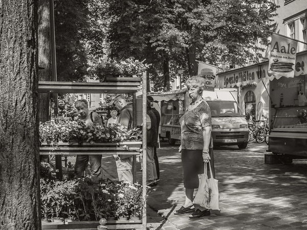 Street Market in may 2014 FujiFilm X20 Street Photography EyeEm Best Shots - Black + White