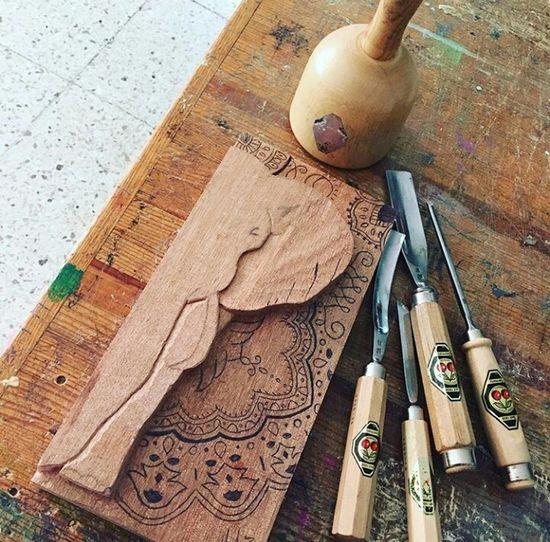 Wood Woodcarving Mandala Art Gurbias