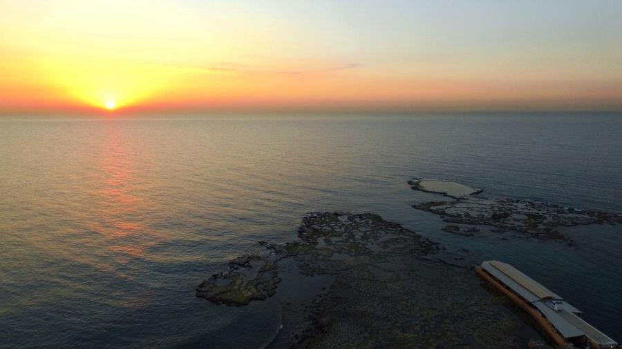 #Drone. #sun #sunrise #sky #nature #morning #today #home #perfectshoot #followforfollow #followme Beauty In Nature Horizon Over Water Nature Reflection Sea Sky Sunset Water