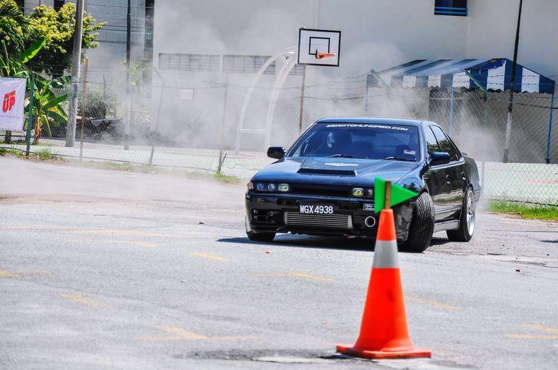 Drift Competition Drifting Competition Drifting Car City Street Safety Spraying Sports Race Racecar Auto Racing Motorsport Finish Line