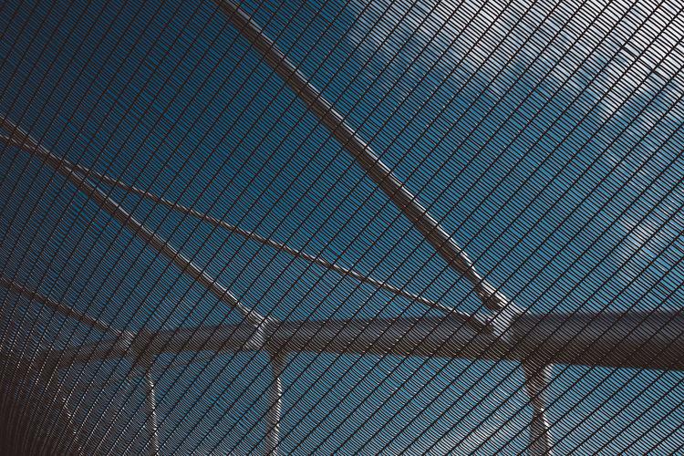 Singapore Bridge Mesh Metal Sky Mesh Fence Fence Urban Urban Geometry Urbanphotography City City View