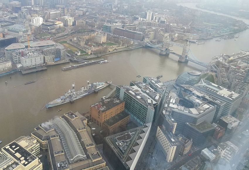 London View From The Top View From The Shard The Shard Thames Thames River River Tower Tower Bridge  Bridge Historical Buildings HMS Belfast Go Higher