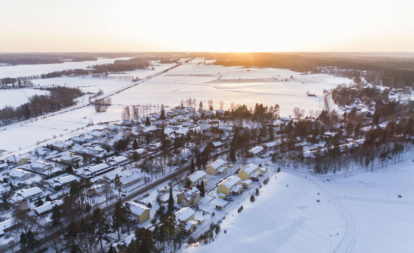 Drone  Finland Ice Magical Nummela Road Suomi Tree Trees Winter Aerial Cold Temperature Countryside County Empty Forest Landscape Nature Snow Sun Town Uusimaa Vihara Weather Winter